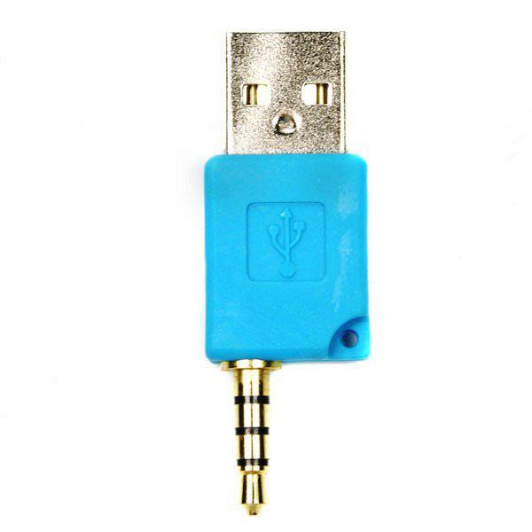Mini USB Daten und Ladeadapter für shuffle 2 (blau) iPod Zubehör