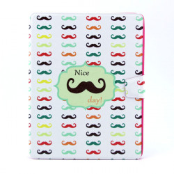 Moustache Pattern 360 Degree Rotating Leather Case For iPad 2 3 4