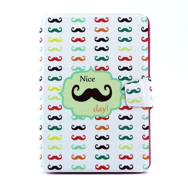 Schnurrbart Muster 360 Grad drehbaren Ledertasche für iPad Mini iPad zubehör