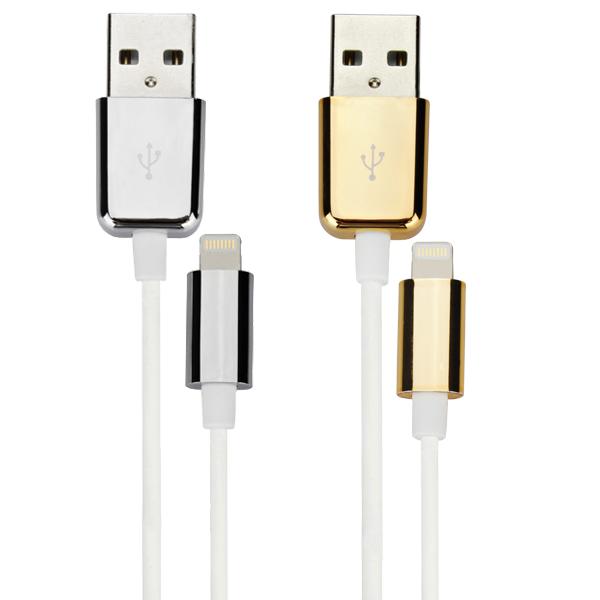 Original D & S Mfi 8pin Data Sync Charger USB-Kabel för iPhone iPad Adaptrar & Kablar