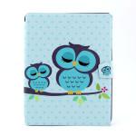 Owl Mönster PU 360° Roterande Läderfodral till iPad 2 3 4 iPad Tillbehör