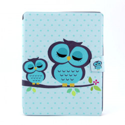 Owl Pattern PU 360 Degree Rotating Leather Case For iPad 2 3 4