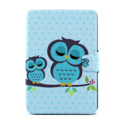 Owl Pattern PU 360 Degree Rotating Leather Case For iPad Mini