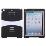 PC Silikon Hybrid Ställ Stötsäker Drop Proof Fodral för iPad Air iPad Tillbehör