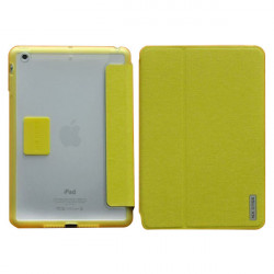 PU PC Magnetic Stand Hard Back Leather Cover Case For iPad Mini