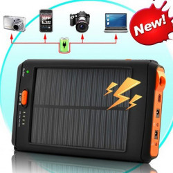 Portable 12000mAh Solar Charger Power Bank For iPhone iPad Laptop