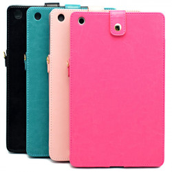 Portable Hang Rope PU Leather Case Cover For iPad Mini