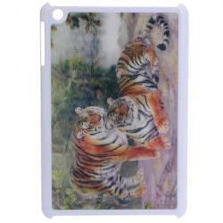 Kraftfull Södra Kina Tigrar 3D Effekt Plast- Fodral för iPad Mini