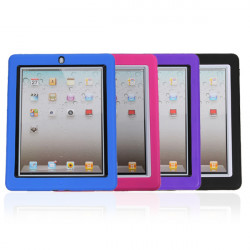 Professional Silicone Stand Case Clear Screen Protector For ipad 3rd