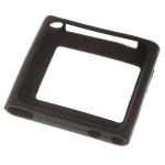 Beskyttende Silikon Taske Cover til iPod Nano 6-Sort iPod Tilbehør