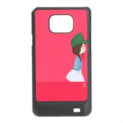 Red Lovely Girl Mønster Hård Bagside Plast Cover Taske til iPod Touch 4