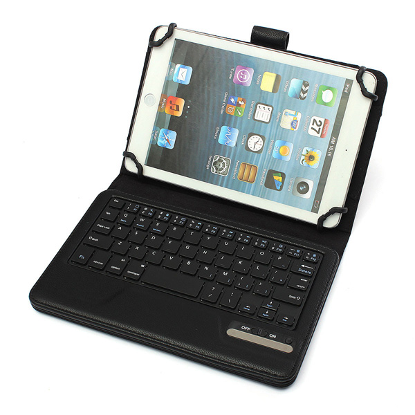 "Löstagbar Bluetooth Tangentbord PU Läderfodral till 7/8""S Tablet Skal & Fodral"