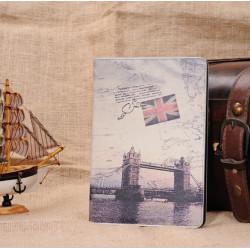Retro London Bridge Klappständer PU Leder Etui für iPad Mini