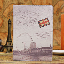 Retro London Eye Design Smart Stand PU Leather Case For iPad Air