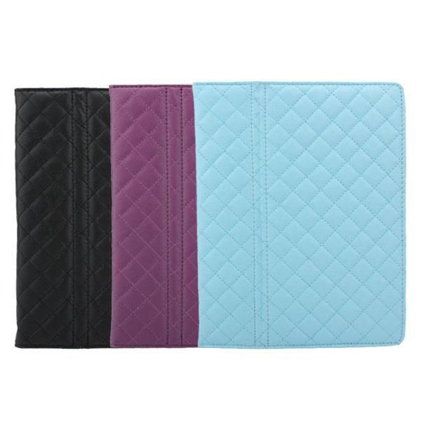 Rhombohedron Grid Ren Färg Enkel Design Läderfodral till iPad iPad Tillbehör