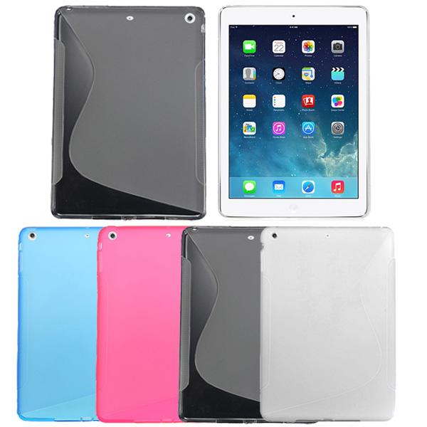 S Line Wave Mjukt TPU Gel Bak Fodral Cover For iPad Air iPad Tillbehör