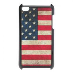 Scrub USA National Flag Hård Plast Cover Etui til iPod Touch 4 4G