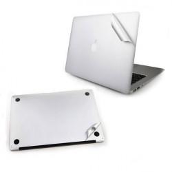Silver Shell Beskyttelsesfilm til MacBook Air Front og Bag
