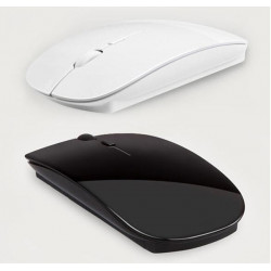 Slim 2.4GHz Wireless Optical Mouse Mice Hidden Receiver For Macbook