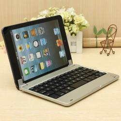Slim Aluminum Trådlös Bluetooth Tangentbord Fodral Cover For iPad Mini3