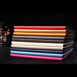 Slim Folio Book Style Maze Grain Ställ Läderfodral till iPad Air 2