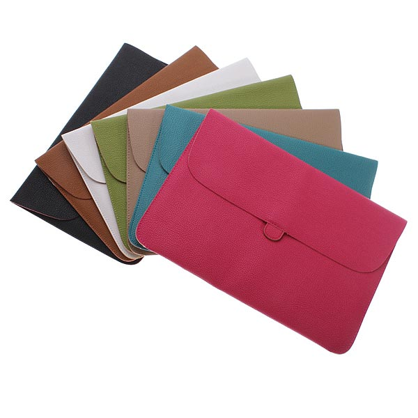 Soft Leather Envelope Case Carry Sleeve Bag For Laptop Macbook 15 Inch Mac Accessories