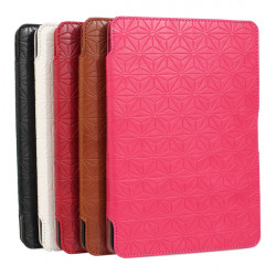Succinct Flowers Pattern Flip Leather Case Protector For iPad Mini