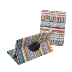 Tribe Stripe Pattern PU Leather Stand Holder Case For iPad Air