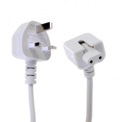 UK Wall Plug Extension Power Cable For iPad Macbook Magsafe