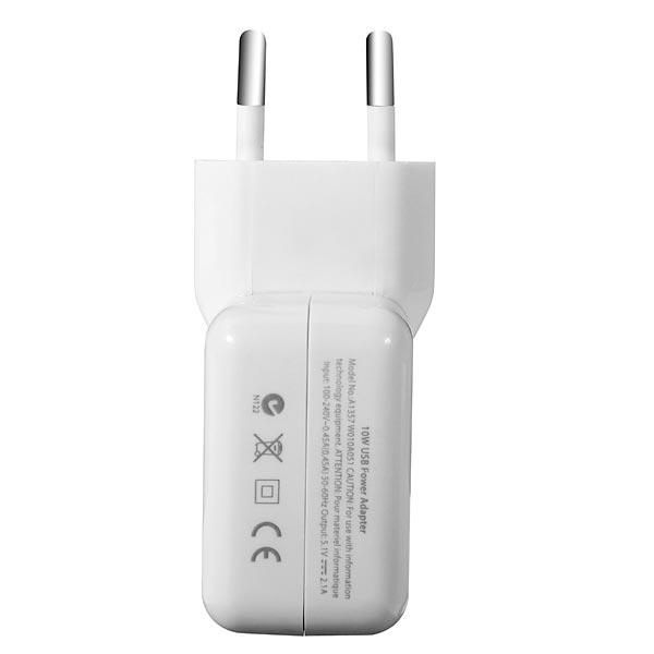 USB Ac Väggladdare för iPad 2 Gen 2 Eu Plug iPhone 5 5S 5C
