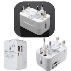 Eu och USA Au UK Universal Ac Plug Adapter Socket Konverter