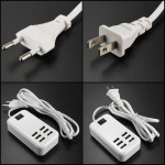 USA / Eu Plug 5v 6a 30w 6 Port USB-Laddare för iPhone iPad iPhone 5 5S 5C
