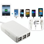 USA / Eu / UK Plug 5v 6a 30w 6 Port USB-Laddare för iPhone iPad iPhone 5 5S 5C