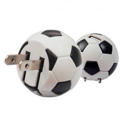 Us Plug Fotboll Shape Hem Wall Reseladdare Adapter för iPhone