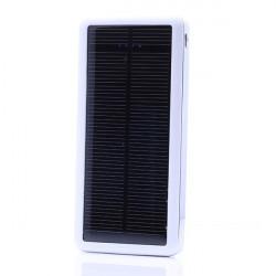 Ultratunn 12800 mAh Solcellsladdare PowerBank för iPhone Smartphone