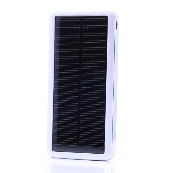 Ultradünne 12800 mAh Solar Ladegerät Energien Bank für iPhone Smartphone iPhone 5 5S 5C