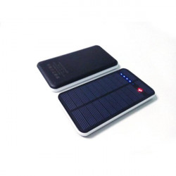 Ultra-thin Touch 12000mAh Solar Power Bank For iPhone Smartphone
