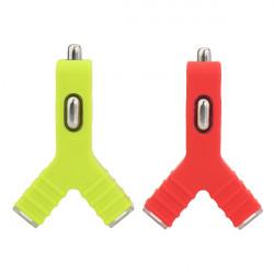 Unik Y Shape Dual Port USB Bil Oplader til iPhone