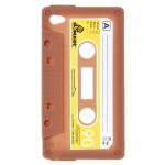 Einzigartige Retro Kassetten Silicon Case für iPod touch 4 Kaffee iPod Zubehör