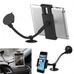 Universal 360° 2in1 Bil Forruden Mount Holder til iPad Tablet PC