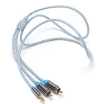 Vention 1M Aux Kabel 3,5 mm Stecker auf 2RCA Audiokabel für Apple Produkt iPod Zubehör