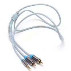Konventionen 1m Aux Kabel 3.5mm Hane till 2rca Ljudkabel