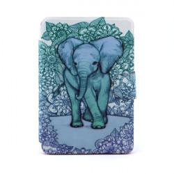 Wild Elephant Pattern 360° Roterande Läderfodral till iPad Mini