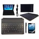 Drahtlose Bluetooth Aluminiumlegierung Tastatur Kasten Abdeckung für iPad Mini iPad zubehör