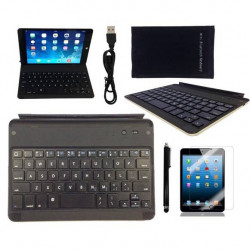Wireless Bluetooth Aluminum Alloy Keyboard Case Cover For iPad Mini