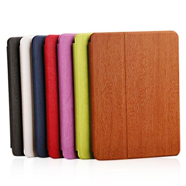 Holzmaserung Klappständer PU Ledertasche für iPad Air iPad zubehör