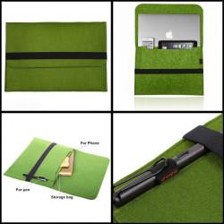 Woolen Felt Envelope Laptop Sleeve Bag Case Cover For MacBook Pro