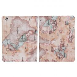 Världskarta Mönster Läderfodral till iPad 2 3 4