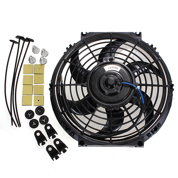 10 Inches 12V Slim Reversible Electric Radiator Cooling Fan Push Pull