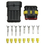 10 X 4 Pin Way Sealed Waterproof Electrical Wire Connector Plug Set
